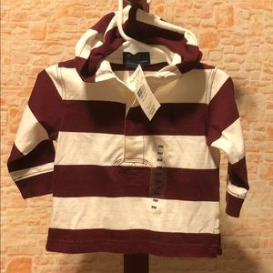NWT Ralph Lauren Polo Rugby Hoodie 9 Months